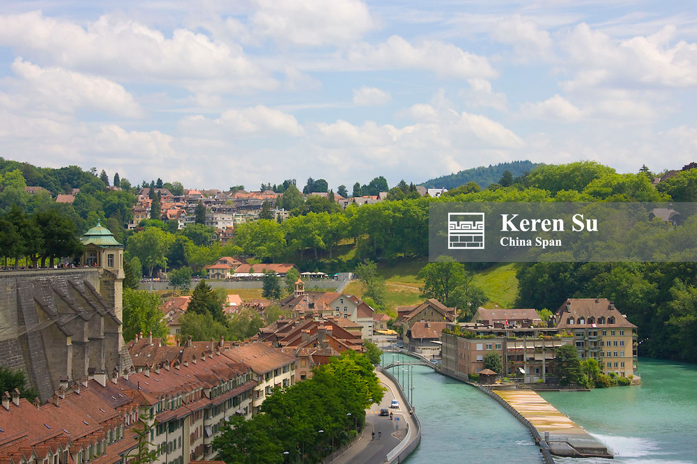 Bern old town on Aare river, Switzerland