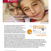 """Mercy Corps Report, """"Syrian Adolescents–Their Tomorrow Begins Today,"""" Sept 2014."""