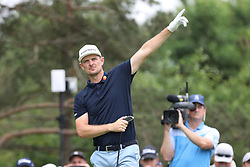 May 30, 2019 - Dublin, OH, U.S. - DUBLIN, OH - MAY 30: Justin Rose of England reacts to his tee shot during the first round of The Memorial Tournament on May 30th 2019  at Muirfield Village Golf Club in Dublin, OH. (Photo by Ian Johnson/Icon Sportswire) (Credit Image: © Ian Johnson/Icon SMI via ZUMA Press)