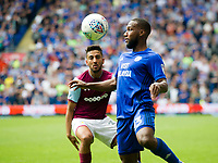 Football - 2017 / 2018 Championship - Cardiff City vs. Aston Villa<br /> <br /> <br /> Junior Hoilett of Cardiff City & Neil Taylor of Aston Villa, at Cardiff City Stadium<br /> <br /> COLORSPORT/WINSTON BYNORTH