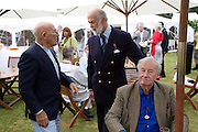 Stirling Moss; Prince Michael of Kent; Sir Terrence Conran, The Cartier Style et Luxe Concours lunch at the Goodwood Festival of Speed. July 13, 2008  *** Local Caption *** -DO NOT ARCHIVE-© Copyright Photograph by Dafydd Jones. 248 Clapham Rd. London SW9 0PZ. Tel 0207 820 0771. www.dafjones.com.