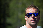 June 26-30 - Pikes Peak Colorado. Sebastian Loeb speaks to media.