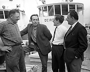 8th July 1969<br /> <br /> Special for B.I.M. Arrival of two new French built trawlers for Killybegs. Pictured are members of the crew and skipper on one of the vessels moored at George's Quay, Dublin.