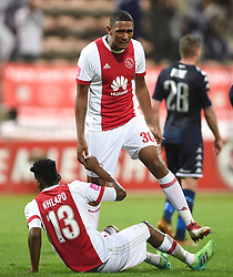 Cape Town-180411 Ajax Cape Town celebrate their 1-0 win against Bidvest Wits in a PSL match played at Athlone stadium.photographer:Phando Jikelo/African News Agency/ANA