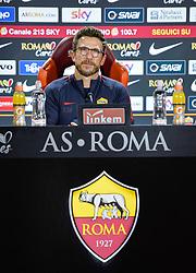 November 25, 2017 - Rome, Italy - A.S. Roma's coach Eusebio Di Francesco met journalists at Trigoria in Rome before their match of the Italian Seria A against Genoa, Rome, 25 november 2017. (Credit Image: © Silvia Lore/NurPhoto via ZUMA Press)
