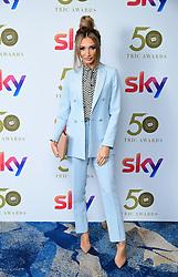 Megan McKenna attending the TRIC Awards 2019 50th Birthday Celebration held at the Grosvenor House Hotel, London.