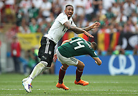 Football - 2018 FIFA World Cup - Group F: Germany vs. Mexico<br /> <br /> Jerome Boateng of Germany vies with Javier Hernandez of Mexicol at Luzhniki Stadium, Moscow.<br /> <br /> COLORSPORT/IAN MACNICOL