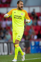 Jeroen Zoet of PSV during the Pre-season Friendly match between PSV Eindhoven and Valencia CF at the Phillips stadium on July 28, 2018 in Eindhoven, The Netherlands