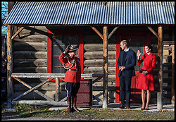 Image ©Licensed to i-Images Picture Agency. 28/09/2016. Whitehorse, Canada. Royal Tour of Canada -Day five. Prince William, The Duke of Cambridge accompanied by his wife Catherine, The Duchess of Cambridge, visit Whitehorse, the capital of northwest Canada's Yukon territory, on day five of their eight day tour of Canada. Picture by Andrew Parsons / i-Images