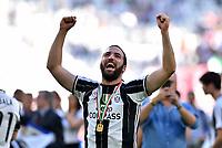 Gonzalo Higuain<br /> Esultanza Juventus Campione d'Italia . Celebration Juventus Italian championship winner <br /> Torino 21-05-2017 Juventus Stadium Football Calcio Serie A 2016/2017 Juventus - Crotone .<br /> Foto Insidefoto