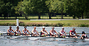 Henley. Berks, United Kingdom. <br /> <br /> Northeastern University USA competing in the Women's Ellite Eight at the 2017 Henley' Women's Regatta. Rowing on, Henley Reach. River Thames. <br /> <br /> <br /> Sunday  18/06/2017<br /> <br /> <br /> [Mandatory Credit Peter SPURRIER/Intersport Images]
