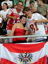 13.07.2011, UPC Arena, Graz, AUT, American Football WM 2011, Group B, Austria (AUT) vs France (FRA), im Bild Fans from team austria // during the American Football World Championship 2011 Group B game, Austria vs France, at UPC Arena, Graz, 2011-07-13, EXPA Pictures © 2011, PhotoCredit: EXPA/ T. Haumer