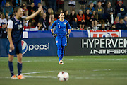 FRISCO, TX - JANUARY 31:  Hope Solo #1 of the U.S. Women's National Team looks on against the Canadian Women's National Team on January 31, 2014 at Toyota Stadium in Frisco, Texas.  (Photo by Cooper Neill/Getty Images) *** Local Caption *** Hope Solo