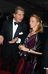 ARNAUD BAMBERGER and MRS DIETRICH VON BOETTICHER at the Cartier Racing Awards held at the Four Seasons Hotel, Hamilton Place, London W1 on 16th November 2005.<br />