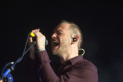 Chvrches play the BBC introducing tent, Sunday, T in the Park 2014.<br /> © Michael Schofield.
