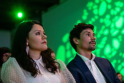 Lora Klinc and Primoz Roglic at the Slovenia's Cyclist of the year award ceremony by Slovenian Cycling Federation KZS, on November 26, 2019 in Ljubljana Castle, Ljubljana, Slovenia. Photo by Matic Klansek Velej / Sportida