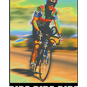 "Bicycling Postcard - Ride-Ride-Ride. Suitable for use on a 4"" x 6"" printed postcard."