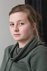 Keli Best at her home in Ramsgate, Kent. She was subjected to abuse by Britain First's Jayda Fransen. Fransen was convicted over the incident at the home of Keli Best during the rape trial of her partner Tamin Rahmani, during which Fransen shouted racist abuse through the front door while pregnant Best was inside. She later lost her baby and attributes Fransen's attack as a contributing factor . Ramsgate, Kent, March 09 2018.