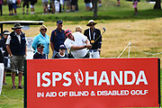 Stephen Pitt plays a shot in front of ISPS Handa signage on Day 3 of the 2017 ISPS Handa New Zealand Golf Open. Millbrook, Arrowtown. New Zealand. Saturday 11 March 2017. © Photo: Andrew Cornaga / www.photosport.nz