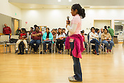 Parents listen and cheer on their kids during the 2016 Milpitas Youth Spelling Bee at the Milpitas Senior Center in Milpitas, California, on January 22, 2016. (Stan Olszewski/SOSKIphoto)