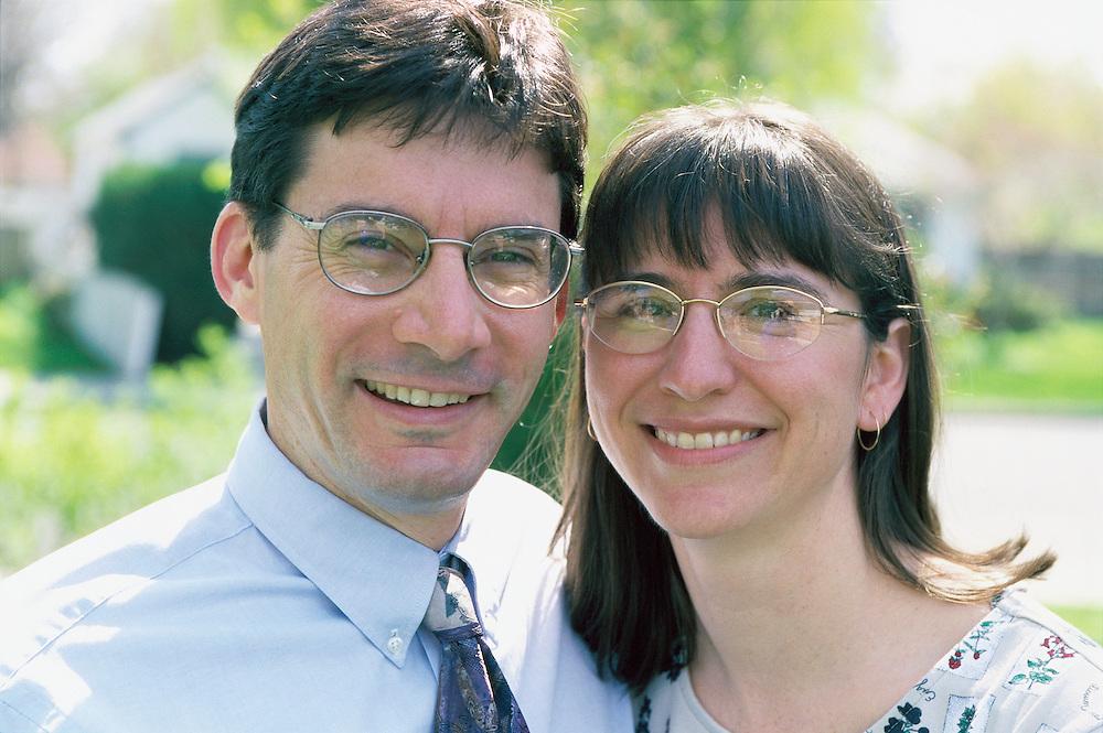 Portrait of a smiling couple<br />