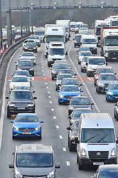 © Licensed to London News Pictures.22/12/2017.<br /> Dartford, UK.<br /> Very heavy traffic Anti-clockwise M25 near Dartford Crossing.<br /> Frantic Friday Christmas traffic chaos on the M25 Junction 1A. <br /> Photo credit: Grant Falvey/LNP
