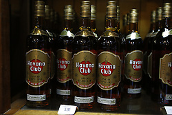 October 14, 2016 - FILE - The Obama administration announced today a new round of executive actions designed to increase trade and travel with the communist island. And this is the one many Americans have been waiting for, no more restrictions on the island's famed rum and cigars. Pictured: Dec. 25, 2014 - Havana, Cuba - Bottles of Havana Club, A'Äìejo Especial, Rum.  Havana, Cuba (Credit Image: © Angel Chevrestt/ZUMA Wire)