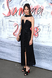 Alexa Chung attending the Serpentine Summer Party 2018 held at the Serpentine Galleries Pavilion, Kensington Gardens, London. Picture Credit should read Doug Peters/EMPICS Entertainment