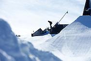 PK Hunder during Ski Slopestyle Practice at 2014 X Games Aspen at Buttermilk Mountain in Aspen, CO. ©Brett Wilhelm/ESPN