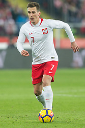 March 27, 2018 - Chorzow, Poland - Arkadiusz Milik (POL)   during the international friendly soccer match between Poland and South Korea national football teams, at the Silesian Stadium in Chorzow, Poland on 27 March 2018. (Credit Image: © Foto Olimpik/NurPhoto via ZUMA Press)