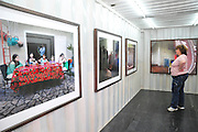 Israel, Haifa, Art exhibition housed in shipping containers at Haifa port