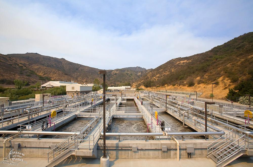 Bio-reactor Basin, Hill Canyon Wastewater Treatment Plant, Camarillo, Ventura County, California, USA
