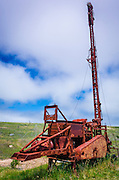 Abandoned oil well on Scorpion Ranch, Santa Cruz Island, Channel Islands National Park, California USA