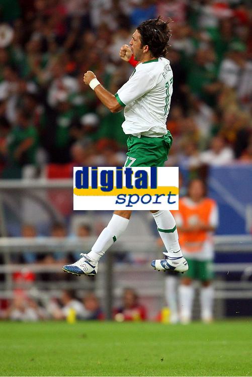 2:1 Torjubel Jose Fonseca Mexiko<br /> Fussball WM 2006 Portugal - Mexiko<br /> Mexico<br /> Norway only