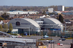 Southend Airport train station at Southend airport in Essex.