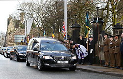 Goalkeeper Joe Hart during the funeral service for Gordon Banks at Stoke Minster.