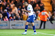 Tottenham Hotspur midfielder Lucas Moura (27) after having his penalty saved during the EFL Cup match between Colchester United and Tottenham Hotspur at the JobServe Community Stadium, Colchester, England on 24 September 2019.
