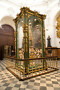 The Custody structure  in the Chapel of Saint Teresa, inside Cathedral former mosque, Cordoba, Spain