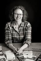 Portrait of Bonnie Mitchell, graphic designer and owner of Mitchell Creative in Victoria, BC