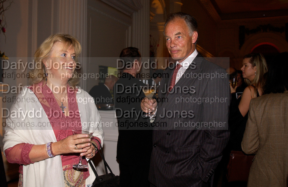 Earl and Countess of Reading, British Luxury Club, Celebration, the Orangery, Kensington Palace. 16 September 2004. SUPPLIED FOR ONE-TIME USE ONLY-DO NOT ARCHIVE. © Copyright Photograph by Dafydd Jones 66 Stockwell Park Rd. London SW9 0DA Tel 020 7733 0108 www.dafjones.com