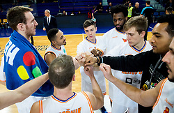 Players of Helios Suns after the basketball match between KK Helios Suns and Ironi Nahariya in #10 Round of FIBA Champions League 2016/17, on January 10, 2017 in Sportna dvorana Domzale, Domzale, Slovenia. Photo by Vid Ponikvar / Sportida