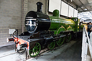"""The Great Northern Railway (GNR) Small Boiler Class C1 steam locomotive was the first 4-4-2 or Atlantic type in Great Britain. They were designed by Henry Ivatt in 1897. In total 22 were built between 1898 and 1903 at Doncaster Works. The class were commonly known as """"Klondykes,"""" after the 1897 Klondike gold rush. Only the very first one remains: No.990 Henry Oakley at the National Railway Museum, York. The popular National Railway Museum (NRM) tells the story of rail transport in Britain and houses historically significant artifacts, rolling stock, and over 100 locomotives. Visit it in York, England, United Kingdom, Europe."""