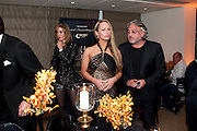 MARIA; ROBERT TCHENGUIZ, The Tomodachi ( Friends) Charity Dinner hosted by Chef Nobu Matsuhisa in aid of the Japanese Tsunami Appeal. Nobu Park Lane. London. 4 May 2011. <br /> <br />  , -DO NOT ARCHIVE-© Copyright Photograph by Dafydd Jones. 248 Clapham Rd. London SW9 0PZ. Tel 0207 820 0771. www.dafjones.com.