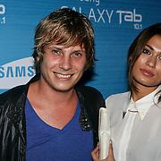 NLD/Amsterdam/20110823 - Presentatie Samsung Galaxy Tab, Tim Akkermans en partner Stephanie van den Eijnden