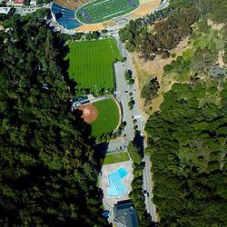 Aerial view of Memorial Stadium in Berkeley, California, University of  California.