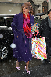February 20, 2019 New York City<br /> <br /> Gayle King arrives to Meghan Markle's baby shower on February 20, 2019 in New York City.