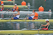 Shunyi, CHINA.  GBR M2X, Bow, Matt WELLS and Steve ROWBOTHAM at the the start of his semi-final in the men's double  sculls, at the 2008 Olympic Regatta, Shunyi Rowing Course. Tuesday 12.08.2008  [Mandatory Credit: Peter SPURRIER, Intersport Images]