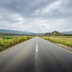 As Salinas-do-Sumbe ao longo da estrada renovada Sumbe  Gabela. Kwanza Sul, Angola.