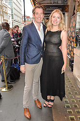 Theatre producer and manager JAMIE HENDRY and his wife ANALISE at a Gala Performance of Impossible at the Noël Coward Theatre, 85-88 Saint Martin's Lane, London on 13th July 2016.
