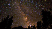 The Milky Way over the Palisades, John Muir Wilderness, Sierra Nevada Mountains, California